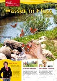 Wasser in Fluss - Lebensraum Wasser