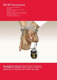 The Right to Choose: Multi-agency statutory ... - Forced Marriage