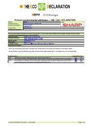 THE ECO DECLARATION MX-M850/950/1100 - Sharp