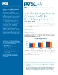 2011 Non-Employee Director Compensation Up Six Percent Among ...