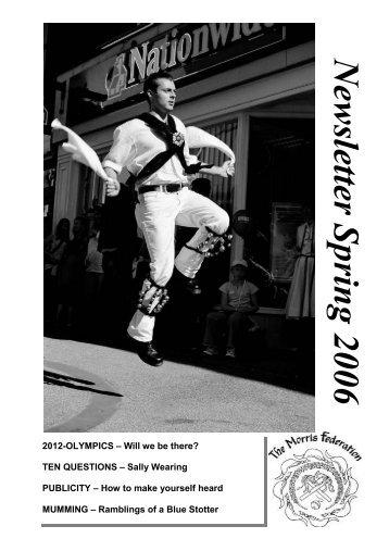 N ew sletter Spring 2006 - the morris federation newsletter