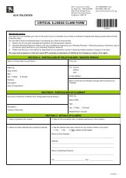 Critical Illness Claim Form - ACE Group