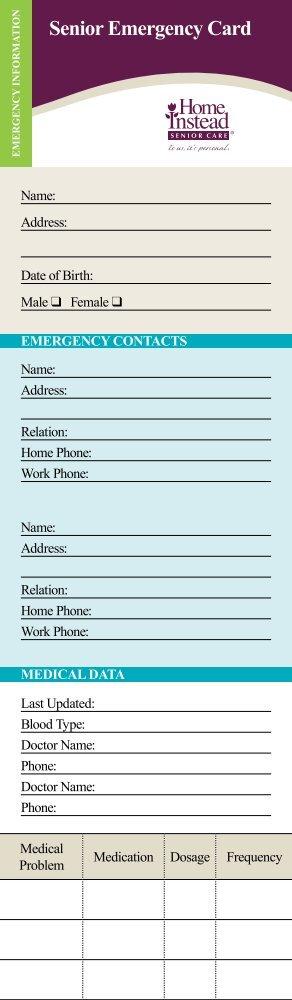 Senior Emergency Card - CaregiverStress.com