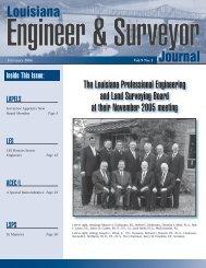 Louisiana Journal - Louisiana Professional Engineering and Land ...