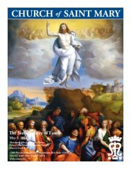 Sunday, May 5, 2013 - St. Mary's Roman Catholic Church