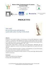 PROGETTO - Liceo Artistico Statale di Bergamo
