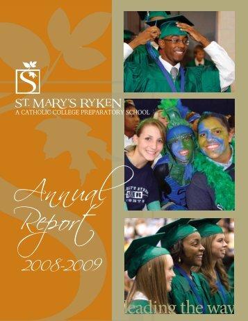 2009 Annual Report - St. Mary's Ryken High School