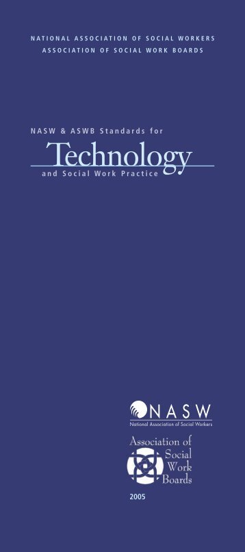 Standards for Technology and Social Work Practice. - National ...