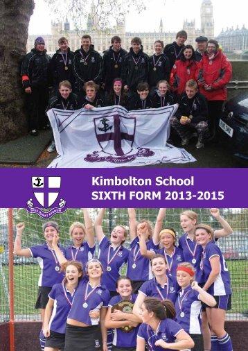 Sixth Form Prospectus - Kimbolton School