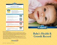 Baby's Health & Growth Record - Mead Johnson Nutrition