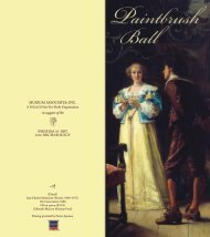 Paintbrush Ball Invitation - Museum of Art and Archaeology