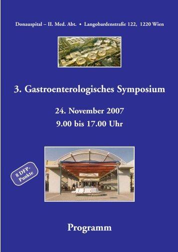 Programm 3. Gastroenterologisches Symposium - 2011 Billrothhaus.at