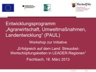 Power-Point-Präsentation LEADER-Initiative ... - ELER-PAUL