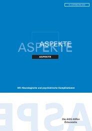 Aspekte Nr. 23 - Die Aidshilfen Österreichs