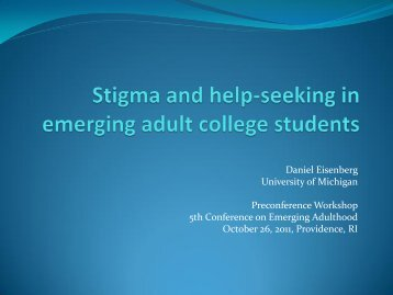 Stigma and help-seeking in emerging adult college students