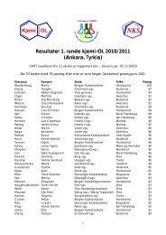 Kjemi OL Resultater 1. runde kjemi-OL 2010/2011 (Ankara, Tyrkia)