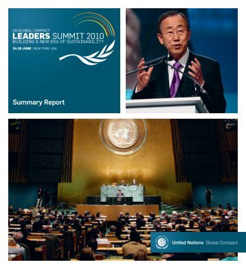 Summit Report - UN Global Compact Leaders Summit 2010