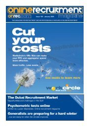 Issue 108 - January 2009 - Online Recruitment Magazine