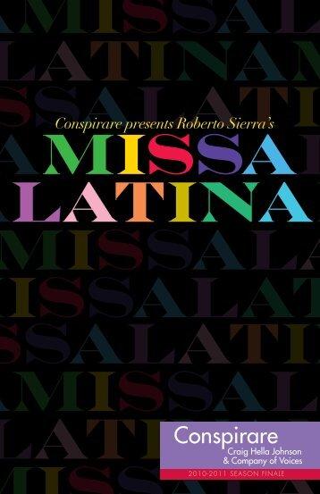 Roberto Sierra's Missa Latina - Conspirare