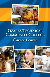OTC Career Center Program Guide 2013-2014 - Ozarks Technical ...