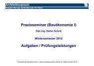Praxisseminar (Bauökonomie I) - Fachgebiet Planungs- und ...