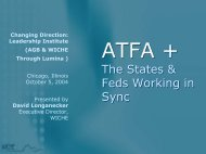 ATFA +The States and Feds Working in Sync : Changing ... - WICHE