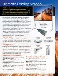 Ultimate Folding Screen - Draper, Inc.