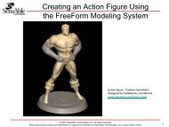 Creating an Action Figure Using the FreeForm Modeling System