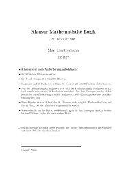 Klausur - Logik und Sprachtheorie / Mathematische Logik
