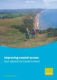 Improving coastal access Our advice to Government - Natural England
