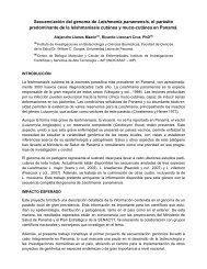 Secuenciación del genoma de Leishmania panamensis, el parásito