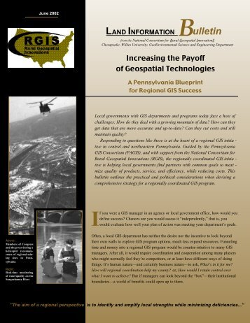 Increasing the Payoff of Geospatial Technologies