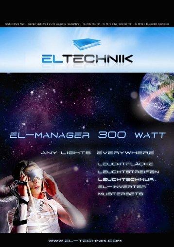 Produktinformation EL-Manager 300 Watt (deutsch) - EL-Technik