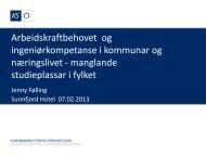 Arbeidskraftbehovet og ingeniørkompetanse i kommunar og ...