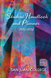 Student Handbook & Planner - San Juan College