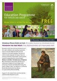 Education Programme - Edinburgh Museums