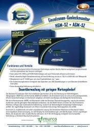 Broschüre Bacharach Einzelzonen-Überwachungsgerät - Murco