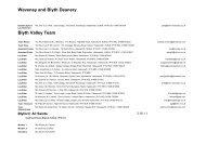 Waveney and Blyth Deanery Blyth Valley Team