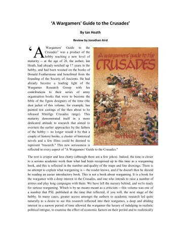 'A Wargamers' Guide to the Crusades' book - Lone Warrior Blog