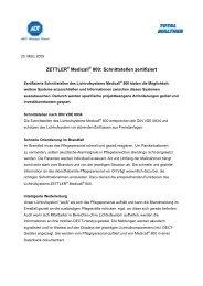 ZETTLER Medicall 800: Schnittstellen zertifiziert - TOTAL WALTHER ...