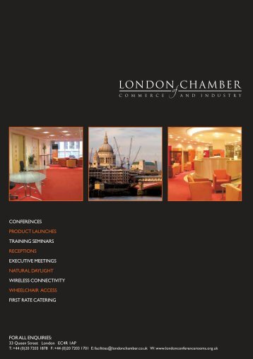 brochure - London Chamber of Commerce and Industry