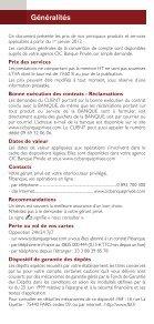 Conditions tarifaires Professionnels , Associations et Entreprises - CIC - Page 2