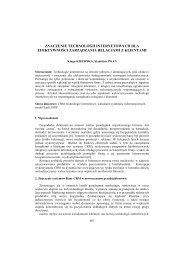 Znaczenie technologii internetowych dla efektywności ... - PTZP