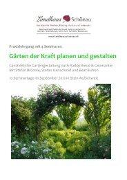 Gärten der Kraft planen und  gestalten - landhaus-schoenau.ch