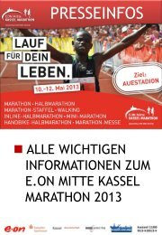 Download Pressemappe 2013 - Kassel Marathon