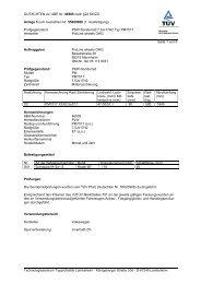 GUTACHTEN zur ABE Nr. 46505 nach §22 StVZO Anlage 5 zum ...