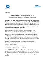 ZETTLER Lichtruf und Kommunikation over IP - TOTAL WALTHER ...