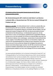 und Service- Leitstelle (NSL) in Deutschland das TÜV Service tested ...