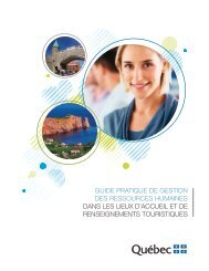 Guide pratique de Gestion des ressources ... - Tourisme Québec