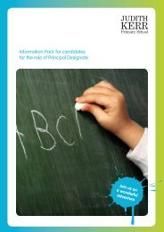Information Pack for candidates for the role of Principal ... - Eteach